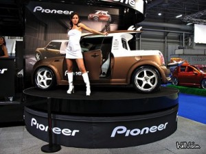 Mini Cooper Girl Painted Rims